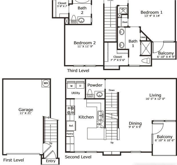 1,320 sq. ft. B6G floor plan