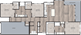 1,667 sq. ft. to 1,758 sq. ft. C1 floor plan
