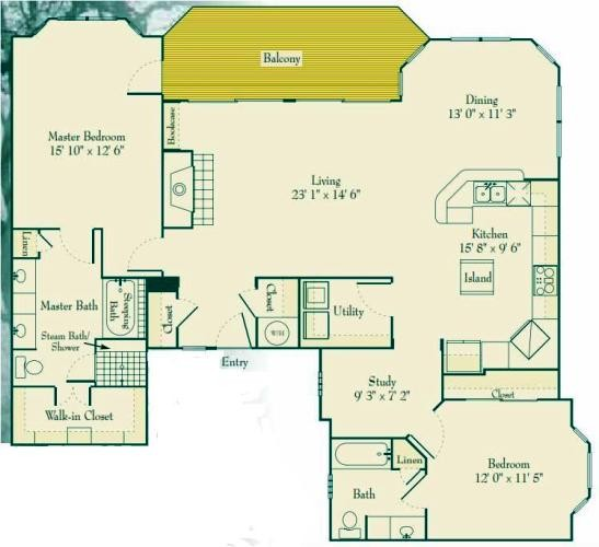 1,566 sq. ft. B4 floor plan