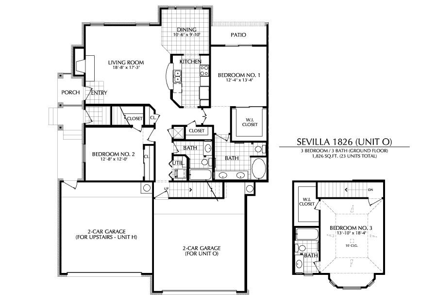 1,826 sq. ft. O floor plan