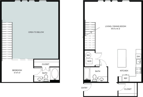 1,162 sq. ft. A6.1 floor plan