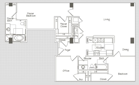 1,517 sq. ft. B7 floor plan