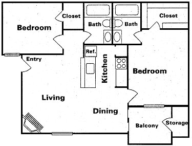 920 sq. ft. Tab1 floor plan