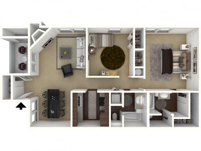 925 sq. ft. Retreat floor plan