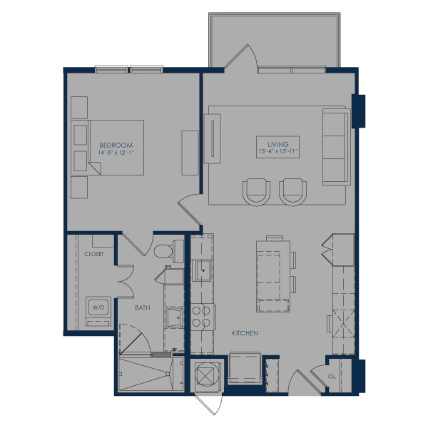 784 sq. ft. to 786 sq. ft. A27A floor plan