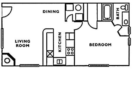 798 sq. ft. floor plan