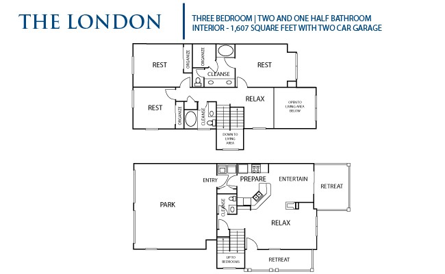 1,607 sq. ft. London floor plan