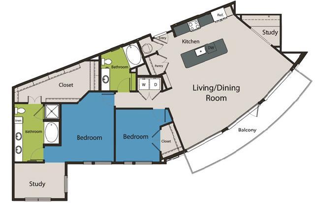 1,651 sq. ft. B6 floor plan