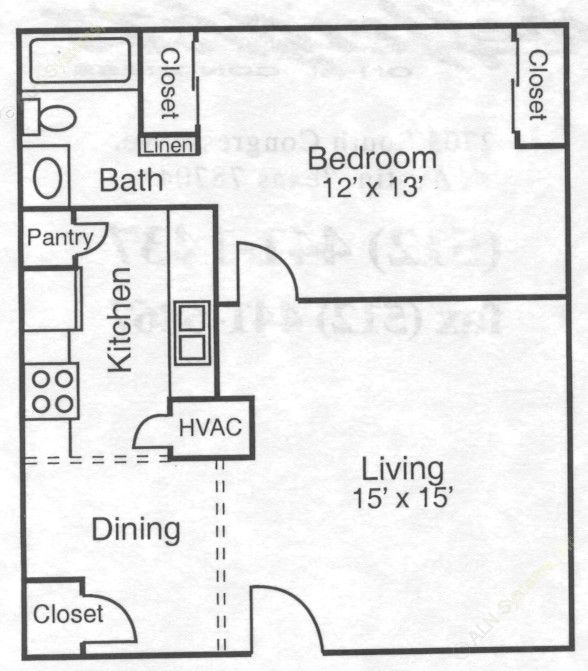 672 sq. ft. 50% floor plan