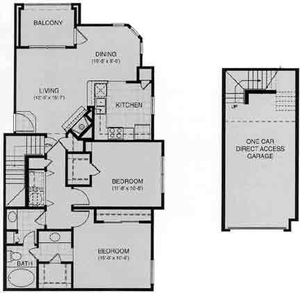 1,026 sq. ft. St Gallen floor plan