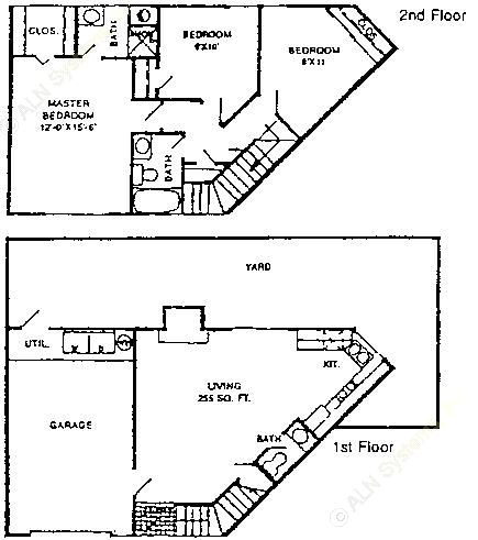 1,203 sq. ft. C1 floor plan