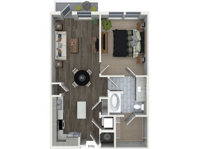 743 sq. ft. A1.1 floor plan