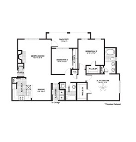1,355 sq. ft. Pin Oak floor plan