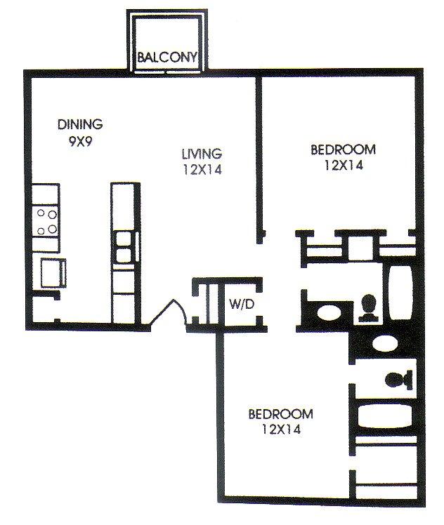 963 sq. ft. G floor plan