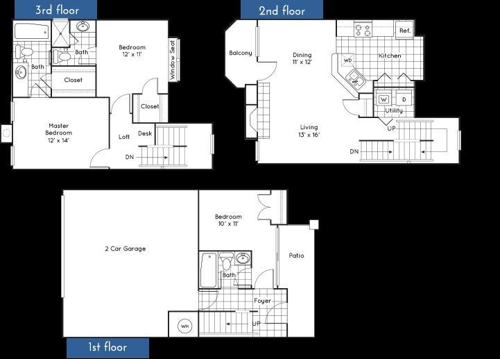 1,486 sq. ft. to 1,506 sq. ft. floor plan
