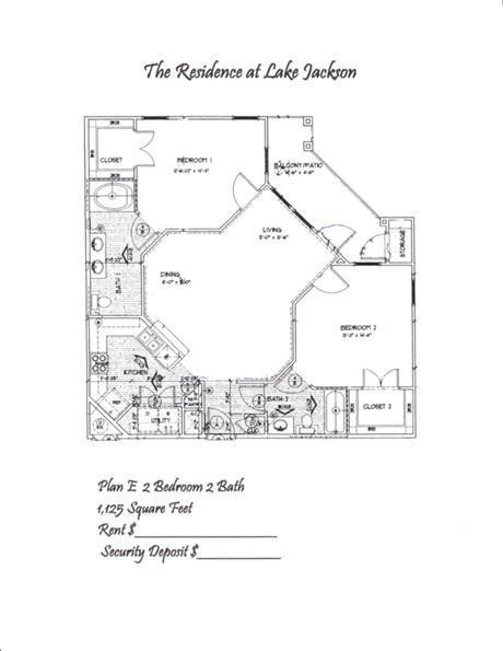 1,125 sq. ft. E floor plan