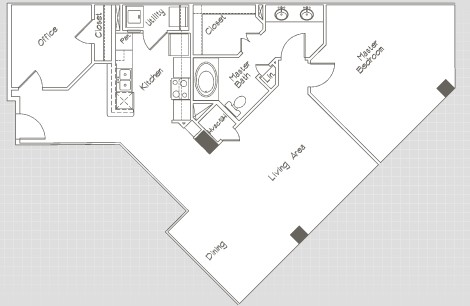 1,146 sq. ft. A11 floor plan