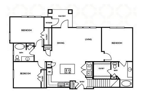 1,377 sq. ft. C1.1G floor plan