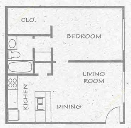 552 sq. ft. A4 PH I floor plan