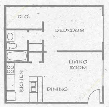 552 sq. ft. A4 PH I floor plan