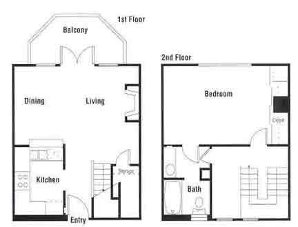 736 sq. ft. A10 floor plan