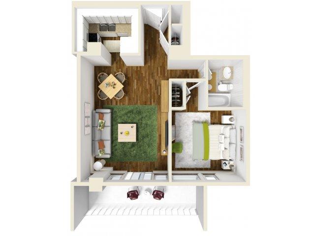 601 sq. ft. floor plan