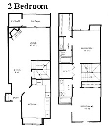 1,093 sq. ft. Forest Hill floor plan