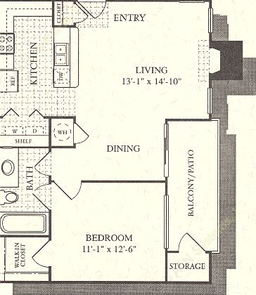 676 sq. ft. Oasis floor plan