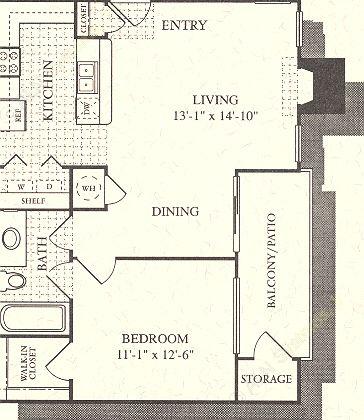 676 sq. ft. Oasis floor plan