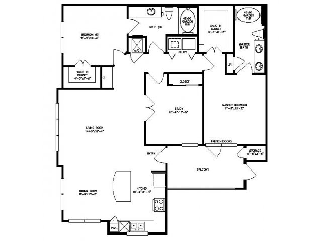 1,386 sq. ft. Sycamore floor plan