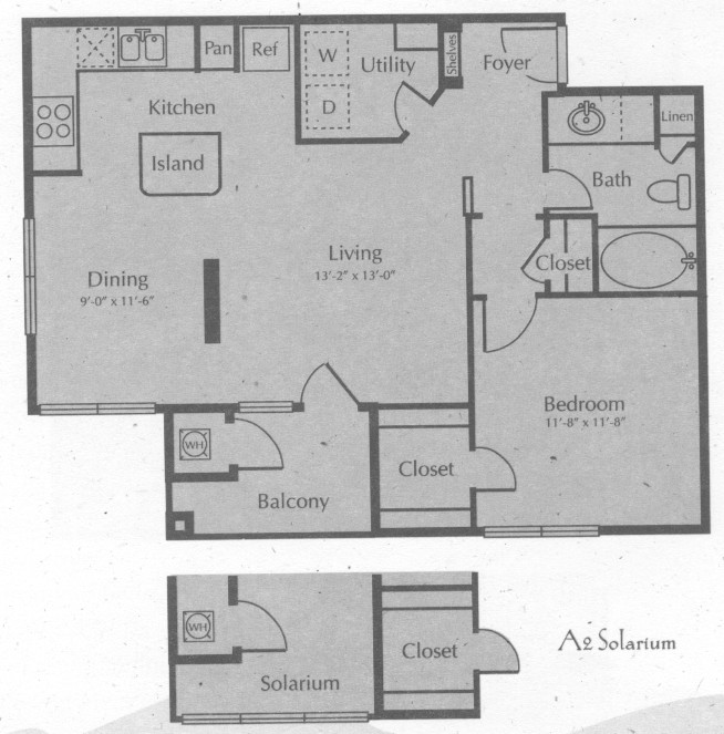 832 sq. ft. MENARD W/SOL floor plan