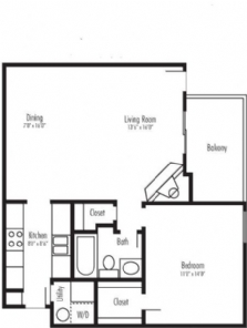 744 sq. ft. Harmony sr floor plan