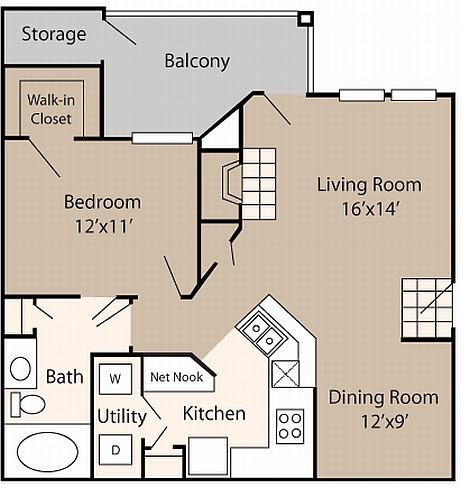 750 sq. ft. to 754 sq. ft. Bosch floor plan