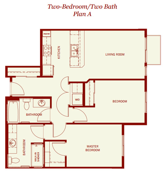 958 sq. ft. floor plan