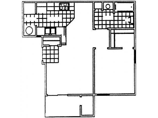 576 sq. ft. Shetland floor plan
