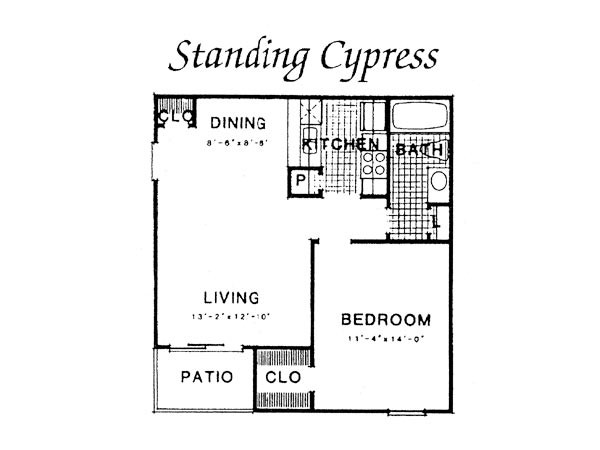 636 sq. ft. III A2 floor plan