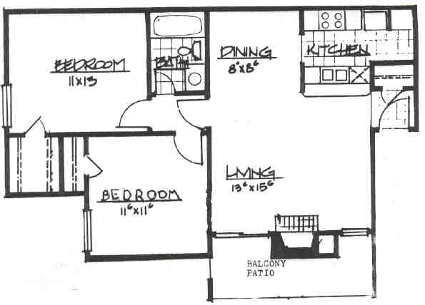 806 sq. ft. floor plan