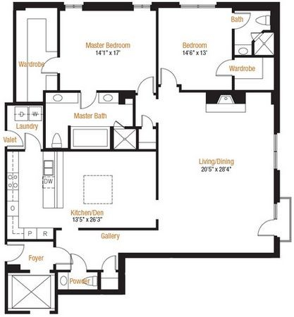 2,217 sq. ft. 17 floor plan