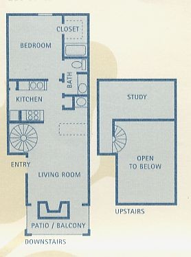 753 sq. ft. Libra floor plan