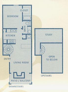 753 sq. ft. Libra floor plan