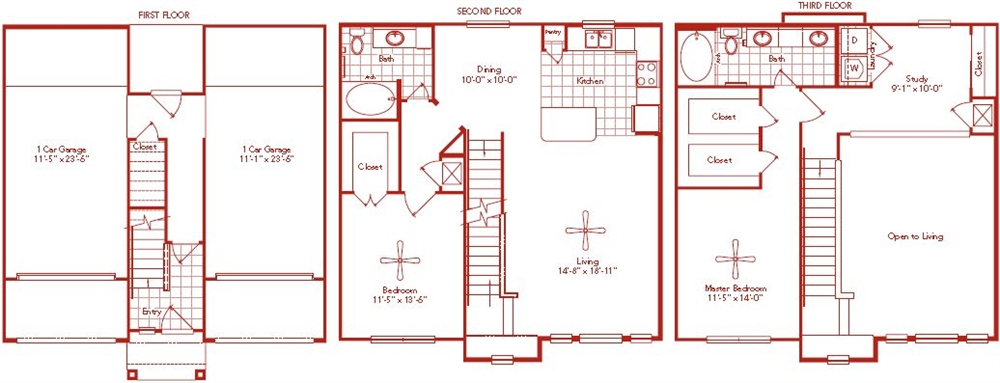 1,527 sq. ft. Fannin floor plan