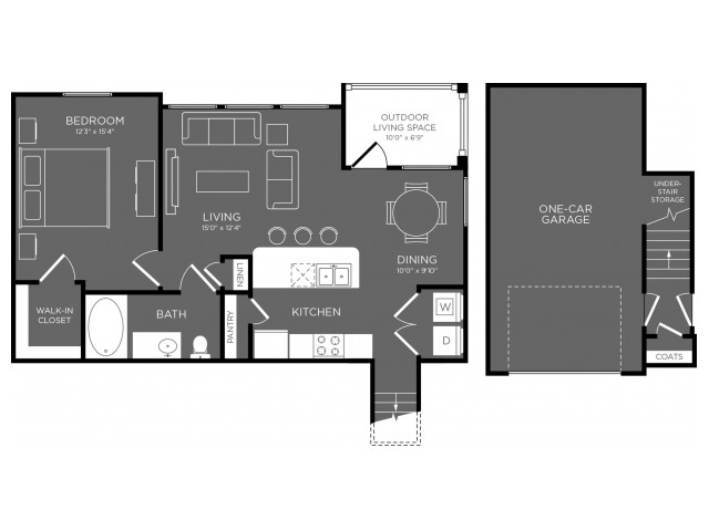 840 sq. ft. Denali floor plan