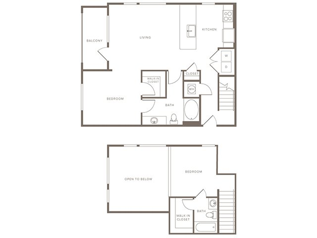 1,098 sq. ft. B9L floor plan