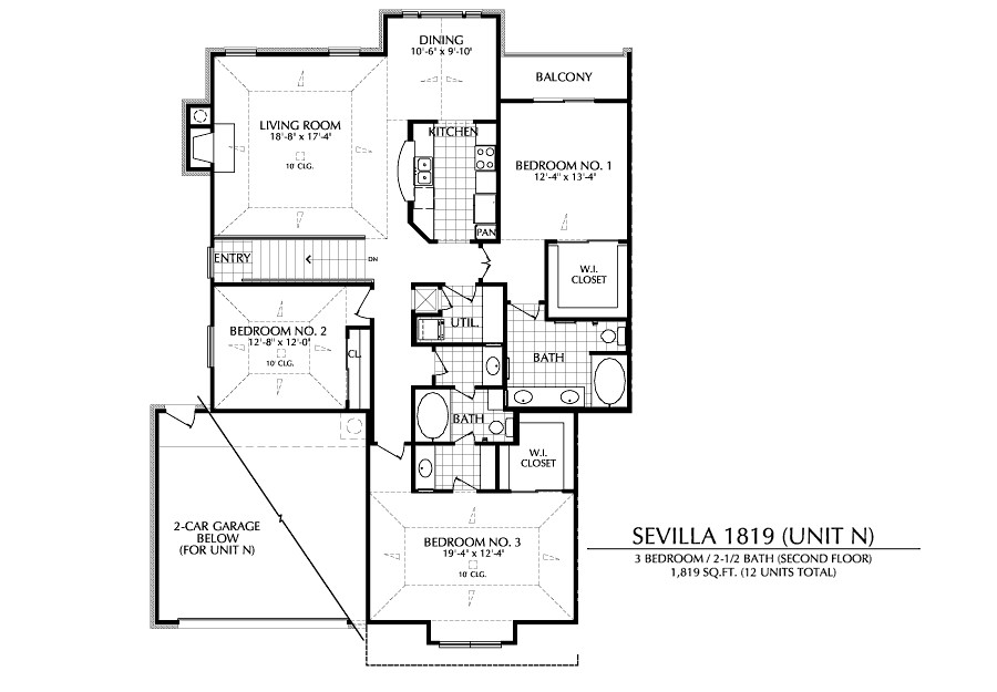 1,819 sq. ft. N floor plan