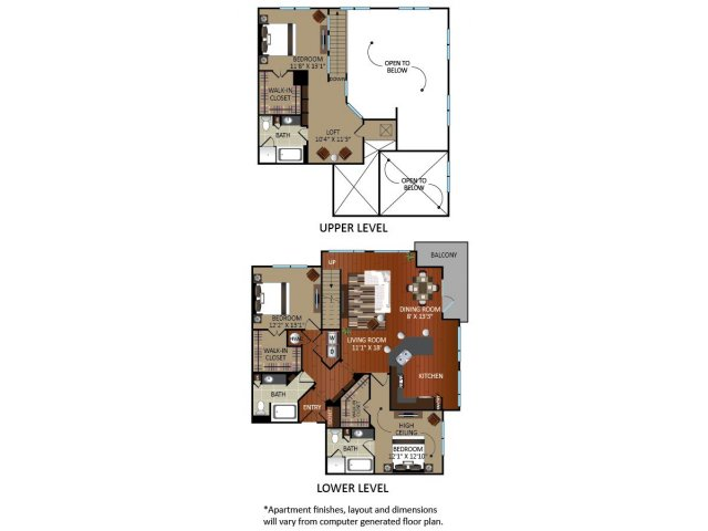 1,895 sq. ft. B3L floor plan