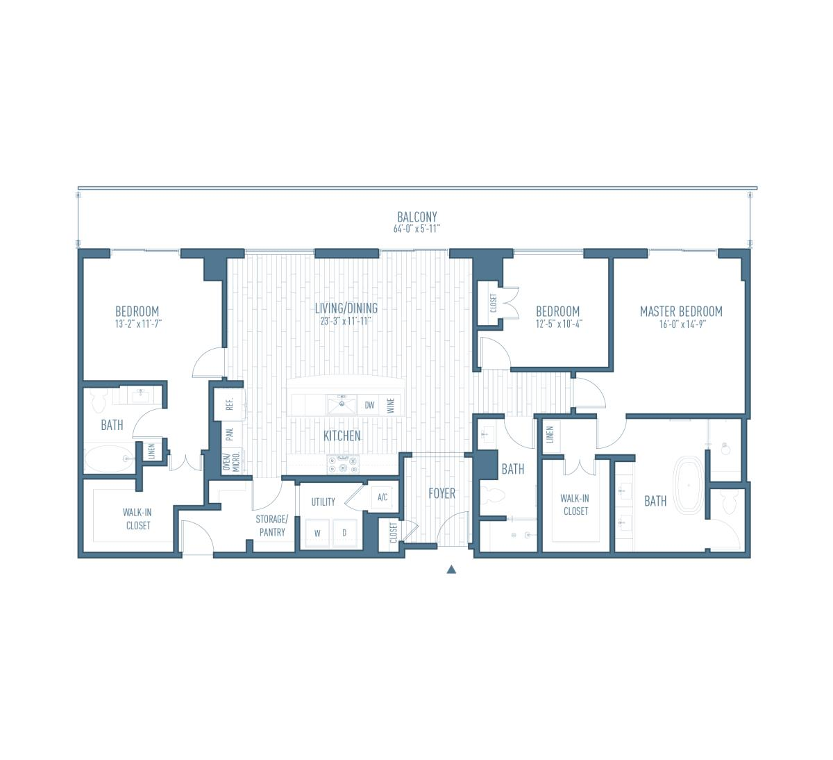 1,837 sq. ft. P3 floor plan