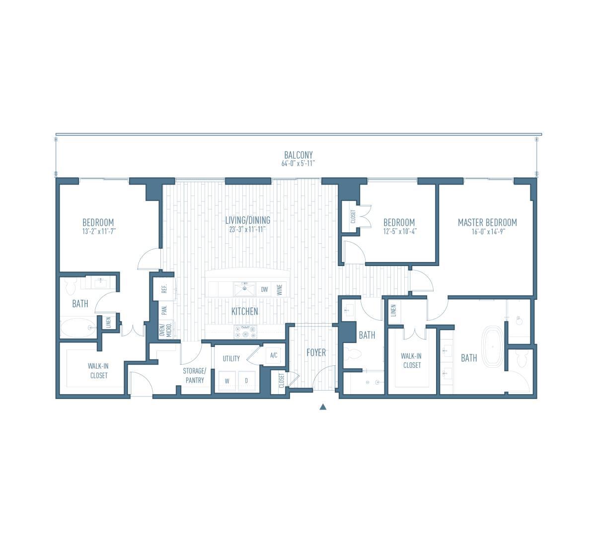 1,837 sq. ft. P3 floor plan