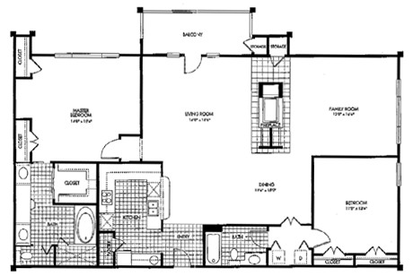 1,647 sq. ft. B2 floor plan