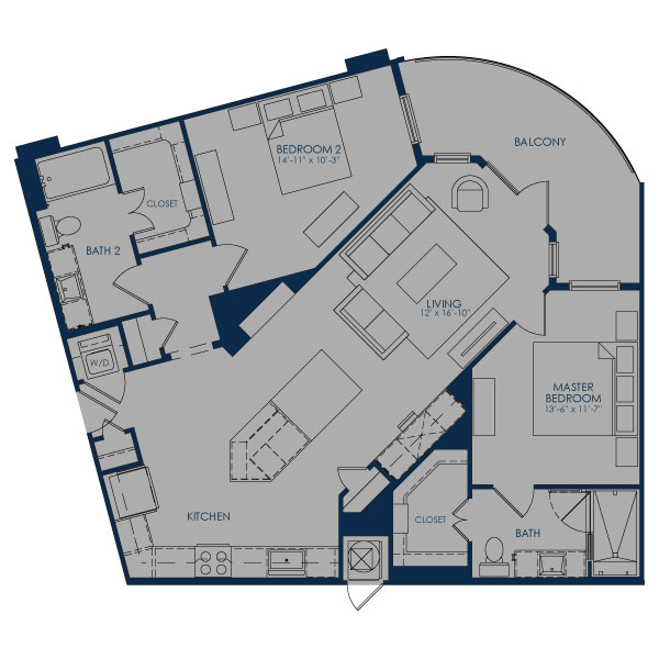 1,217 sq. ft. B-1C36B floor plan
