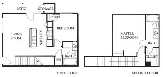 1,108 sq. ft. Sapphire floor plan